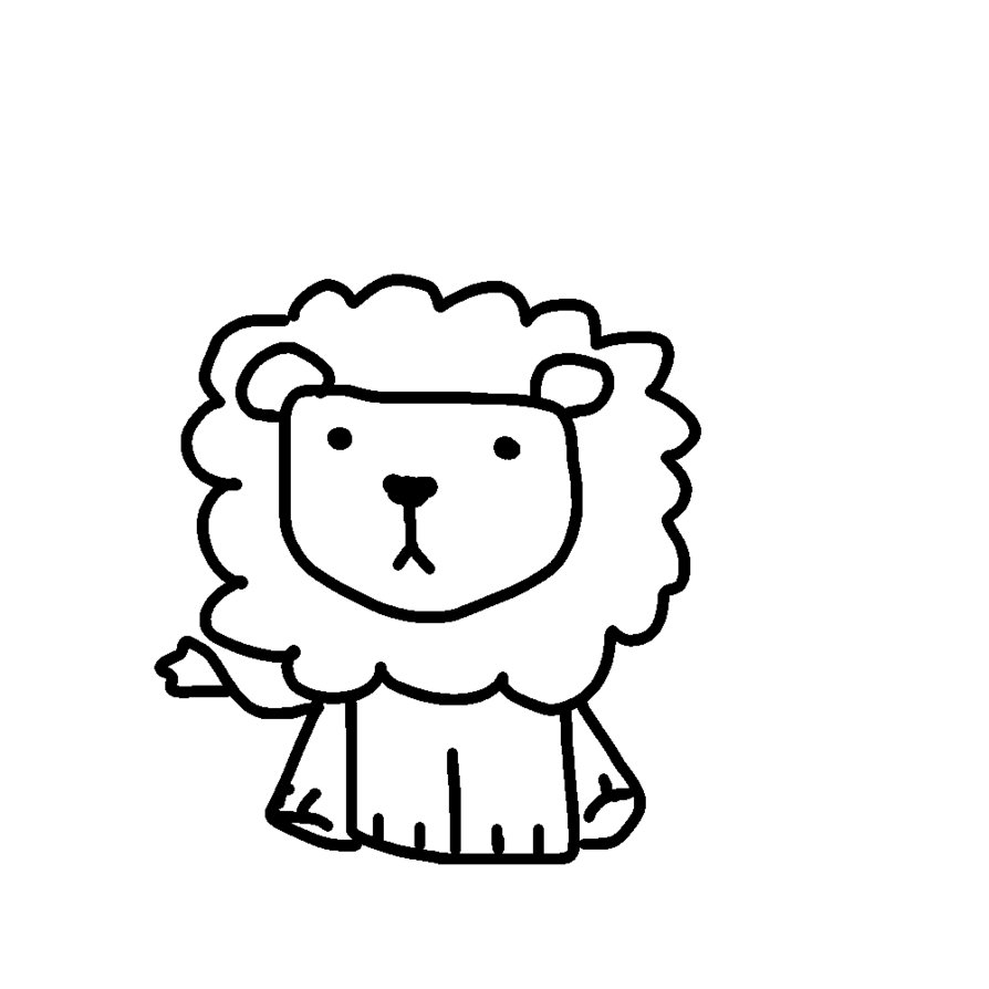 Line Drawing Lion : Lion line drawing clipart best