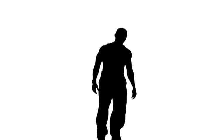 Silhouette Of Man Dancing Stock Footage Video 1442758 - Shutterstock