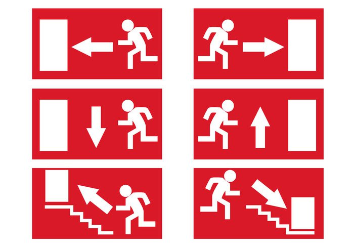 Emergency Exit Sign Vector - ClipArt Best