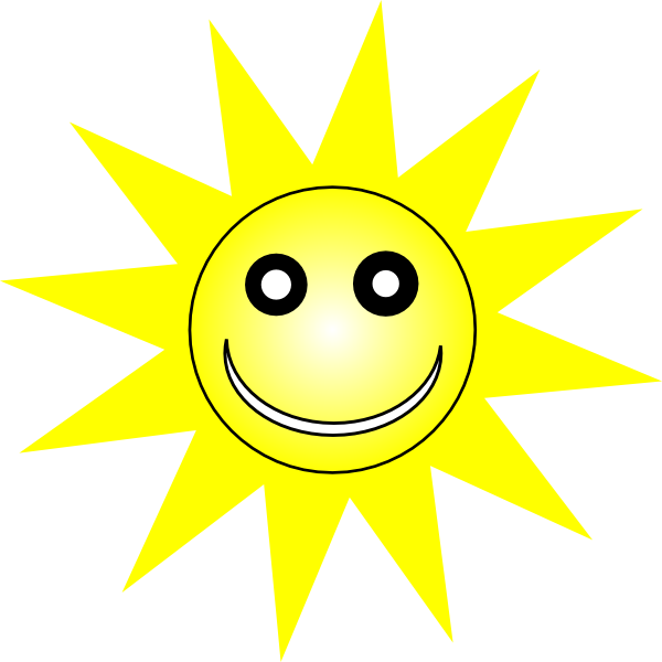 Smiley Happy Yellow Sun clip art - vector clip art online, royalty ...