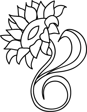 24 sunflower line drawing free cliparts that you can download to you ... Giggle Clipart