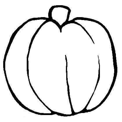 printable blank pumpkin coloring pages - photo#23