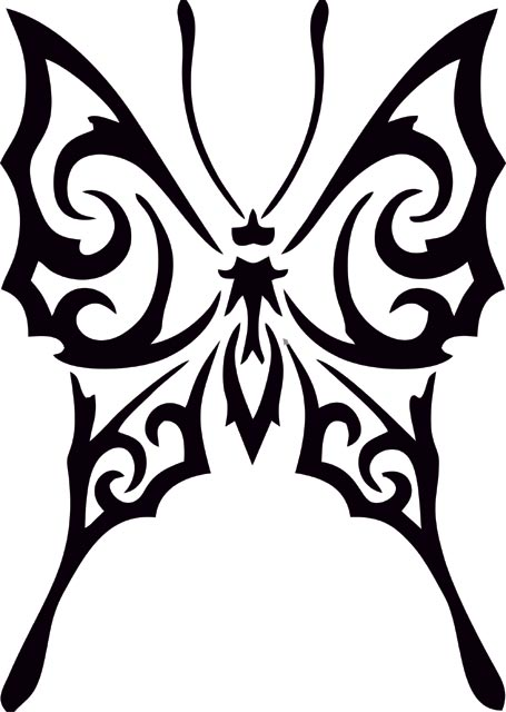 tribal butterfly drawings clipart best. Black Bedroom Furniture Sets. Home Design Ideas