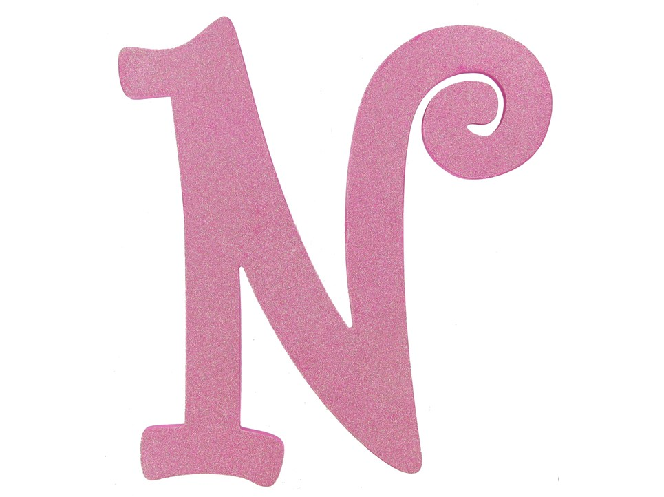 The gallery for --> The Letter N In Pink Glitter