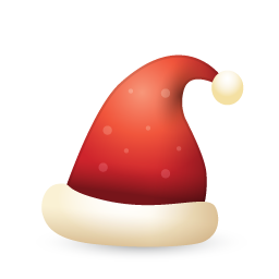 Santa Claus Hat Icon, PNG ClipArt Image