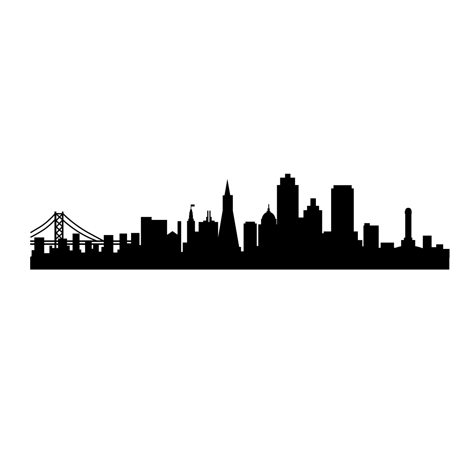Gotham City Skyline Wallpaper Gotham City Skyline Outline