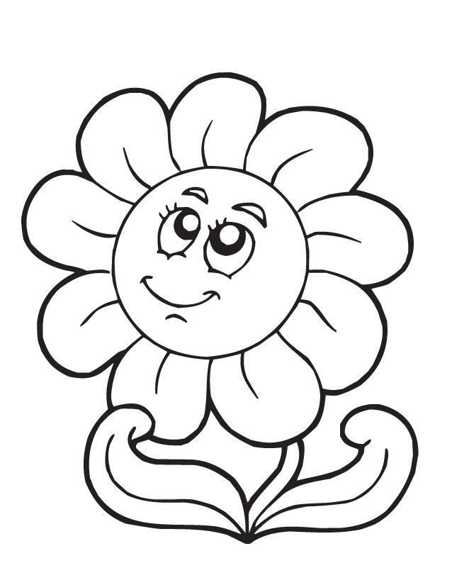 Spring Clipart Cartoon Flowers