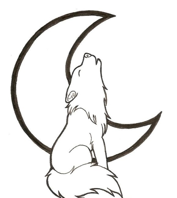 Cartoon wolf coloring pages wolf coloring pages free coloring pages - Cartoon Animal Howling Wolf Coloring Pages Cartoon