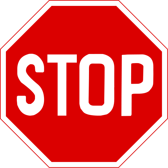 Candid image in free printable stop sign