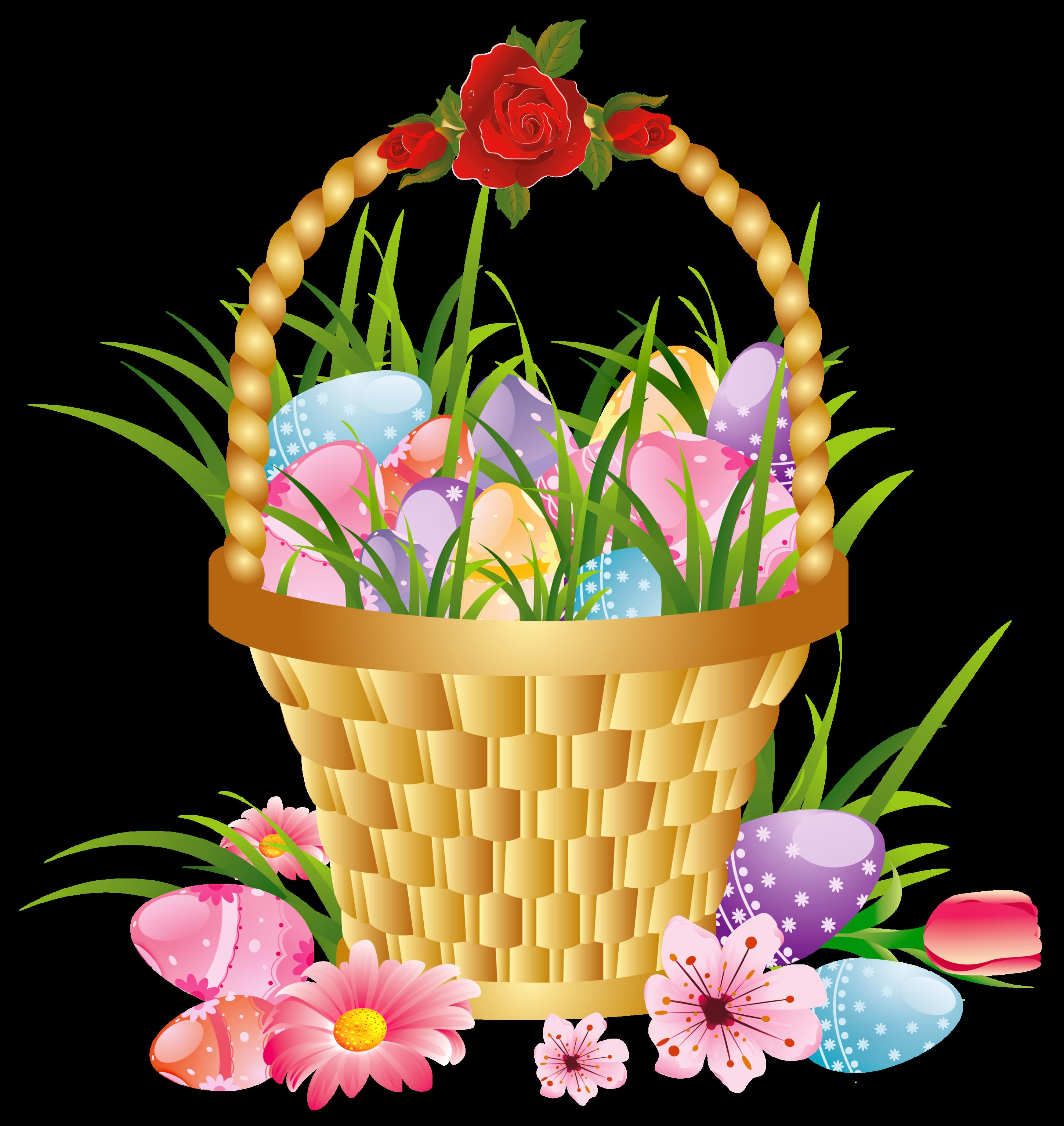 Clipart Flower Baskets : Basket of flowers clip art clipart best
