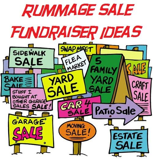 Global Views Garage Sale: Indoor Garage Sale Cartoon