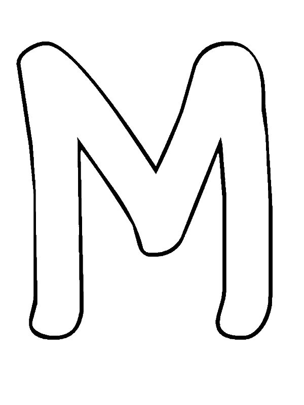 Bubble Letter M Coloring Page - Download & Print Online Coloring ...