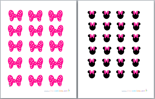 This is a graphic of Amazing Printable Minnie Mouse Bow