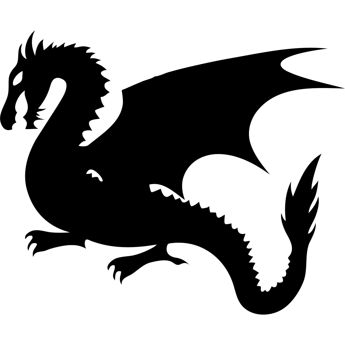 Dragon Silhouette - ClipArt Best - ClipArt Best