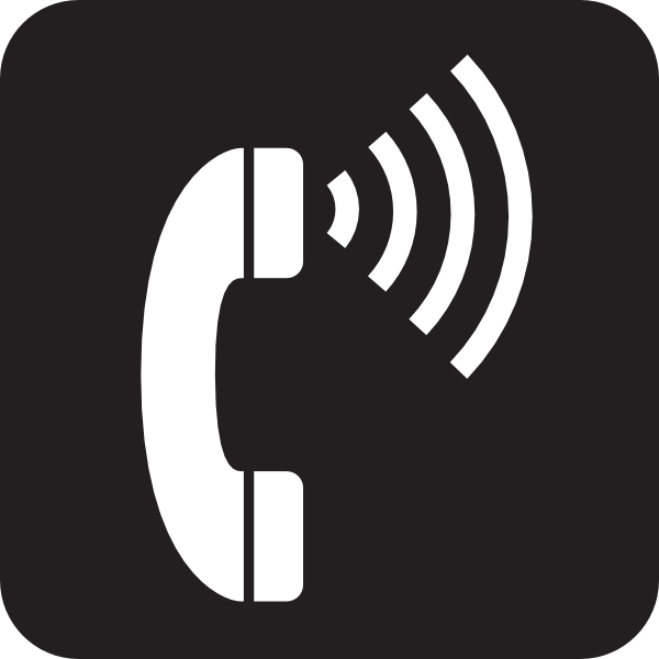 Volume Control Telephone Black Clip Art - vector clip ...
