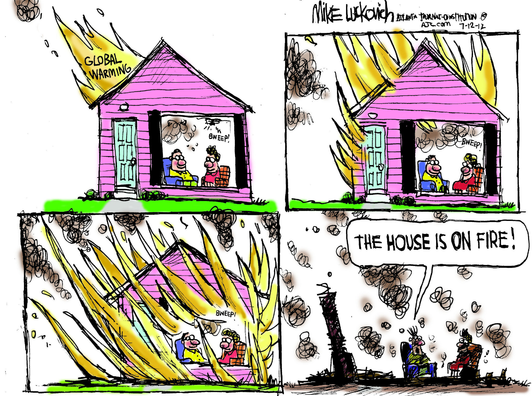 a house on fire essay for kids