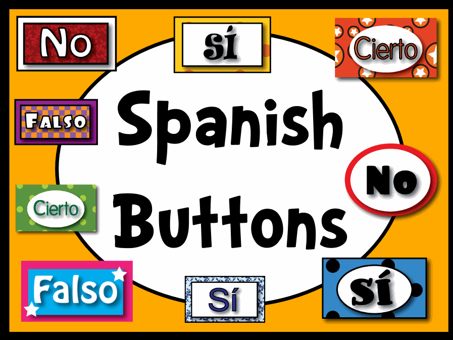 This resource pack contains buttons in Spanish - Si, No, Cierto, Falso (yes, no, true, and false). This resource pack will install in shared ...