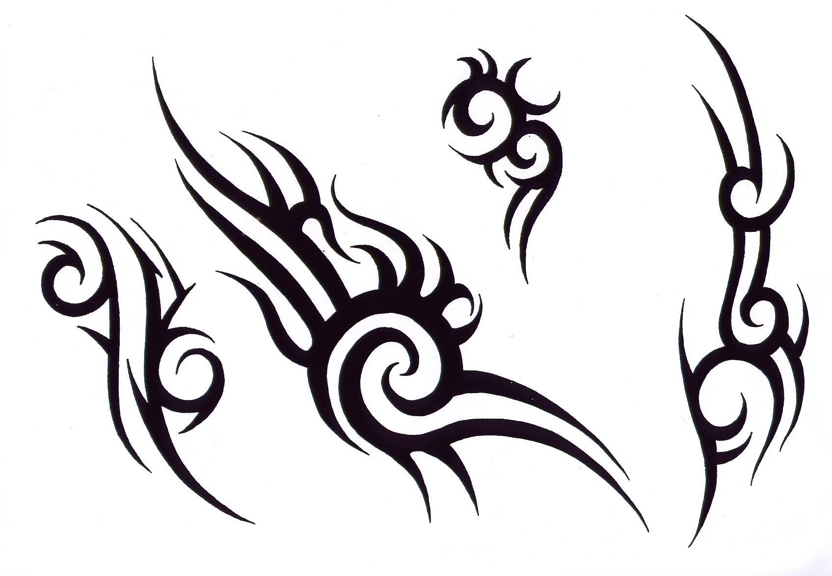 Rose outline vector image - Tribal Tattoo Desing Clipart Best
