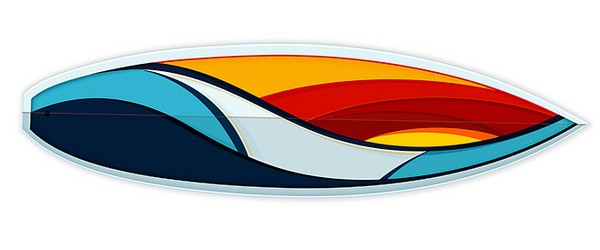 Simple surfboard designs clipart best for Awesome surfboard designs