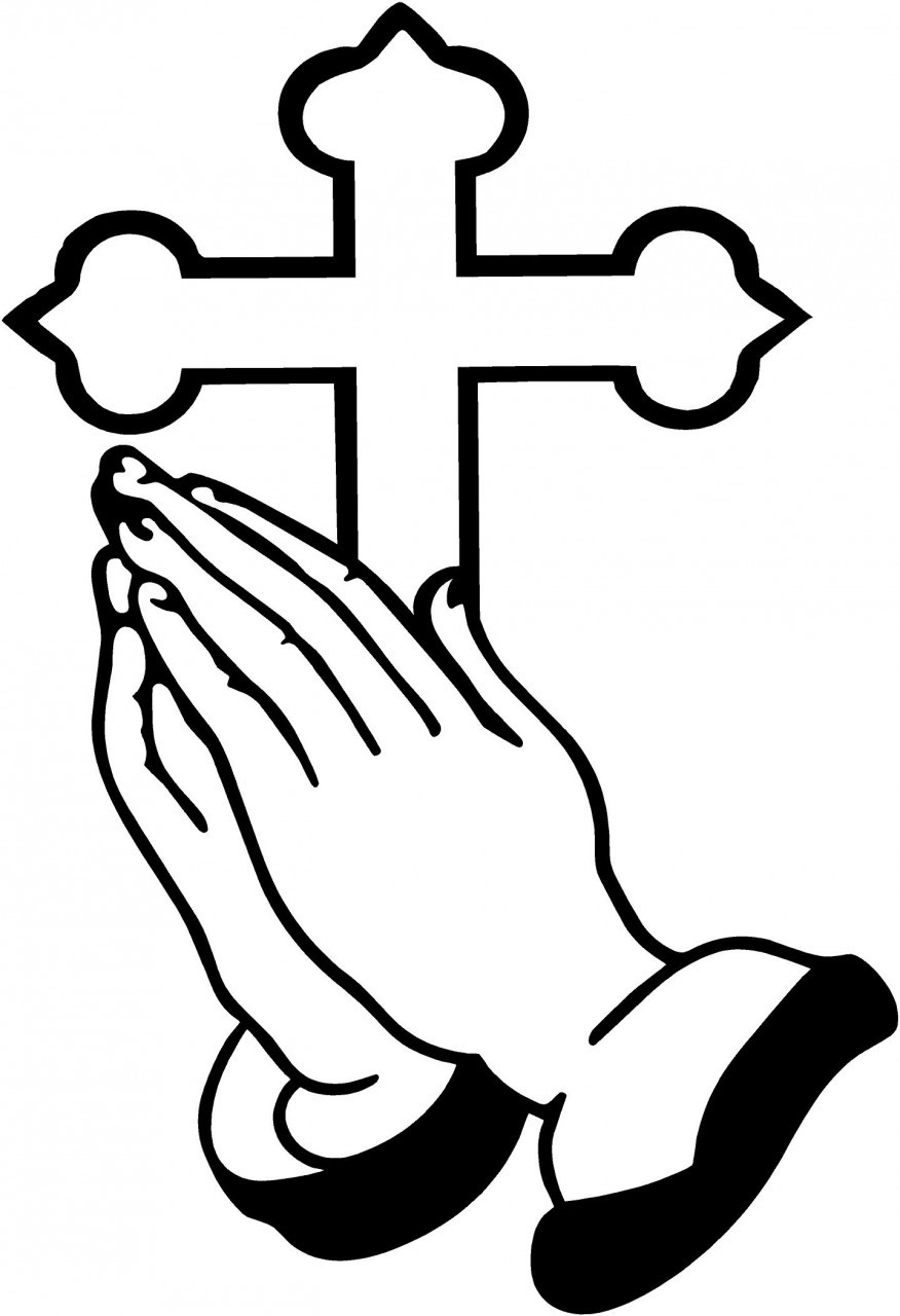 Praying Hands Coloring Pages Clipart Best