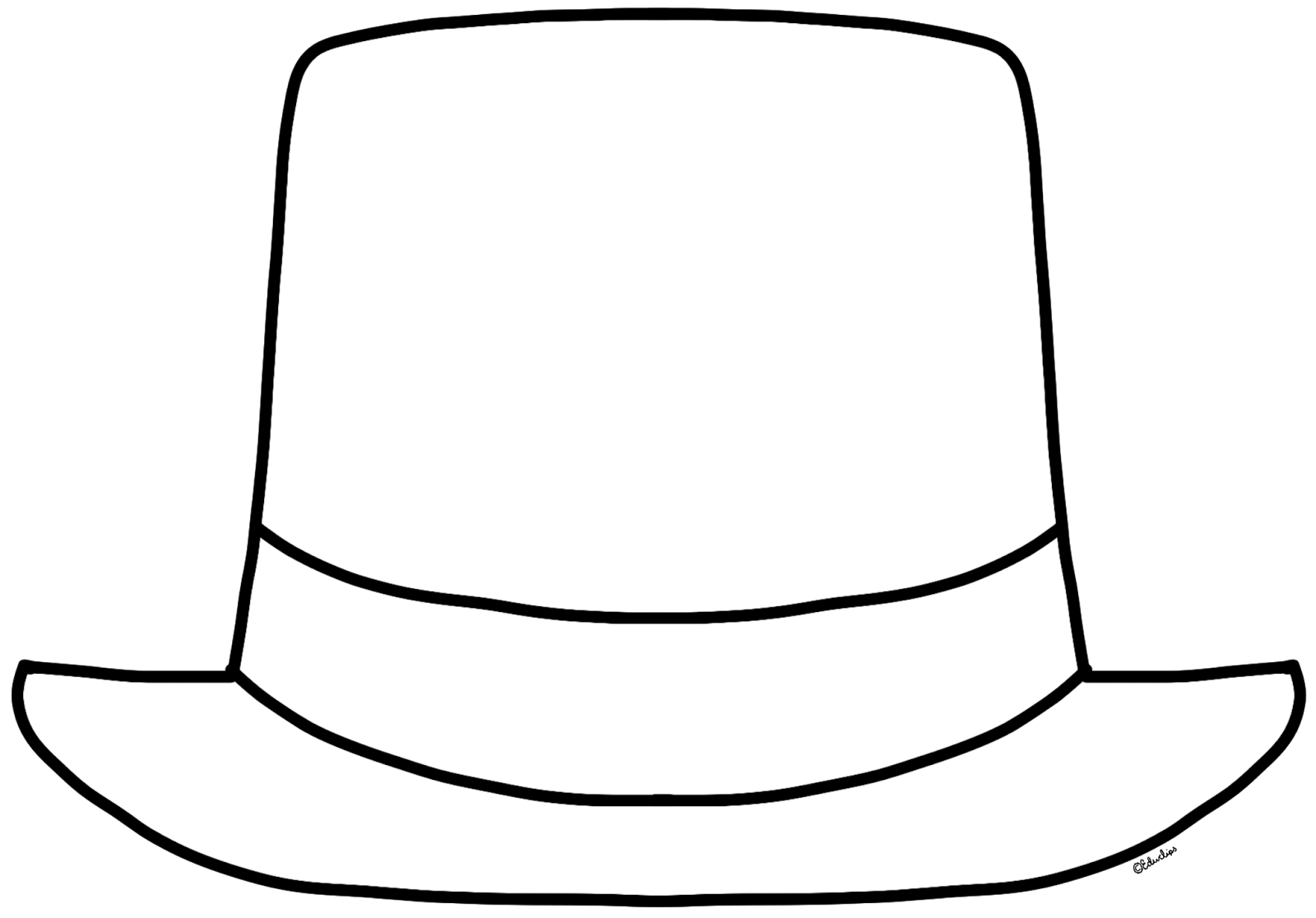 Black And White Hat Part : Top hat clipart black and white best