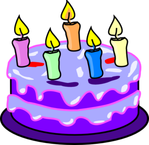 Birthday cake cartoon clipart
