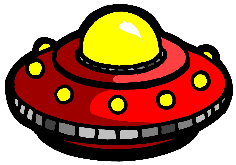 Cartoon Ufo In Space