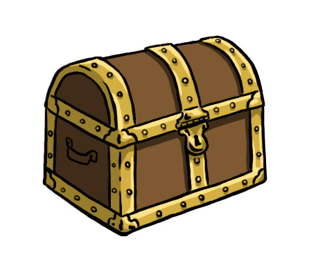 how to draw a treasure chest 10 steps  with pictures Pirate Chest Clip Art free treasure chest clipart