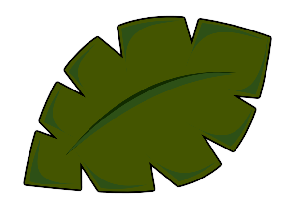 Palm Branch Outline Clipart