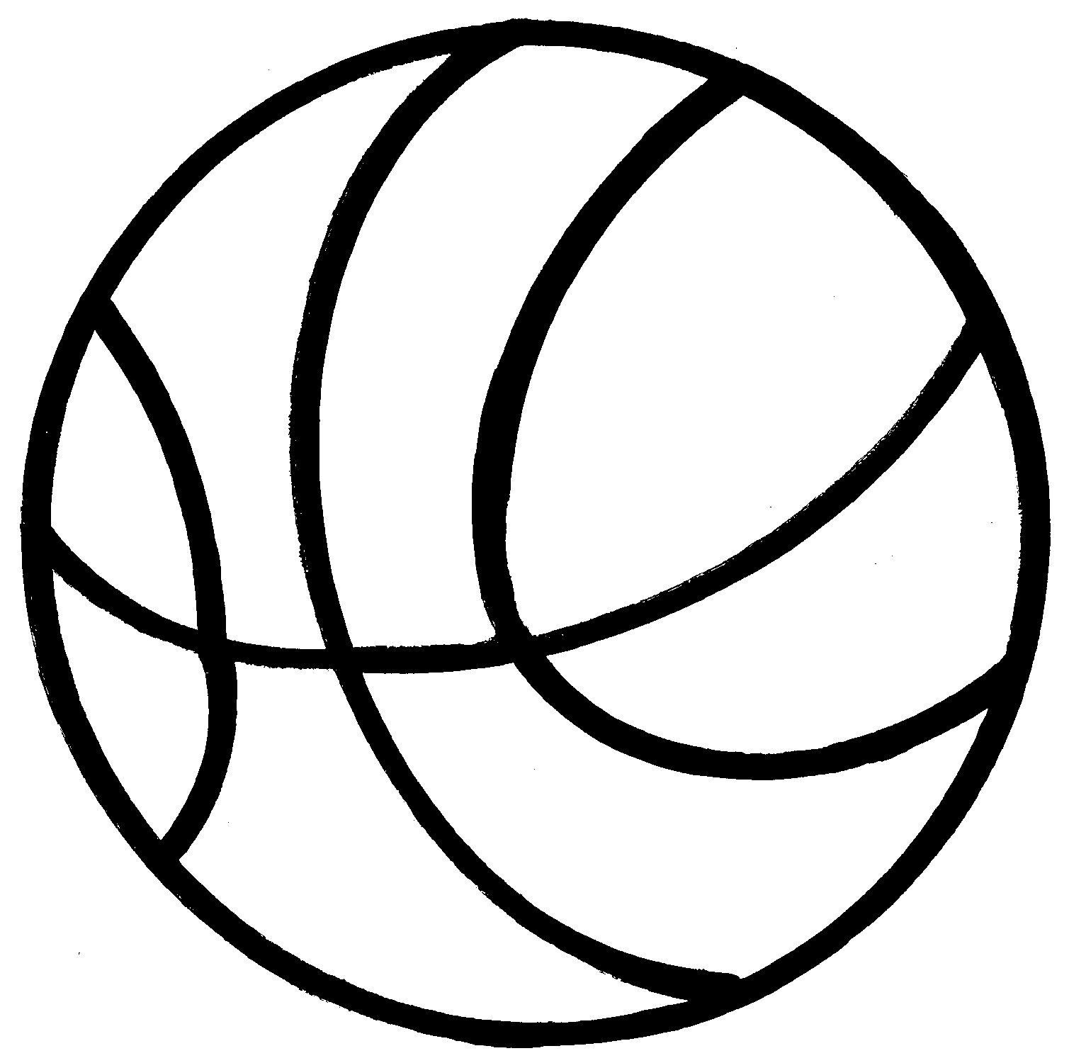 Basketball Line Art - Cliparts.co