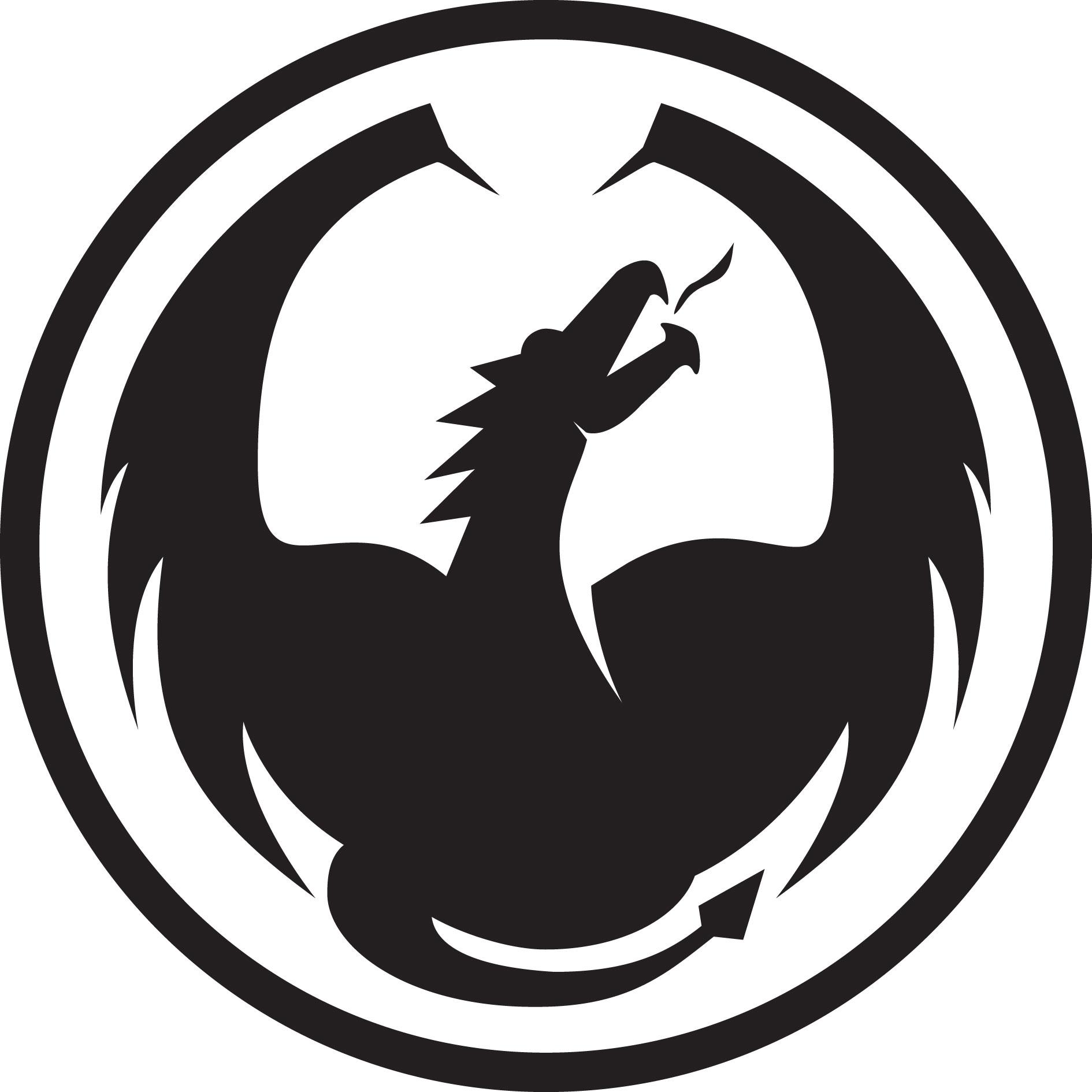 logo black dragon