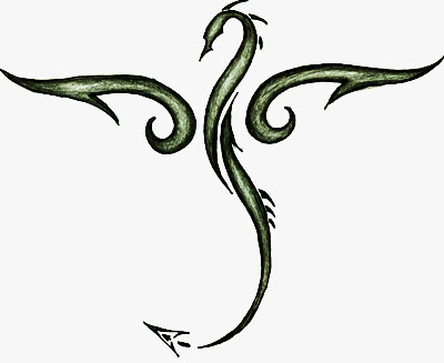 Tribal Dragon Drawing - ClipArt Best
