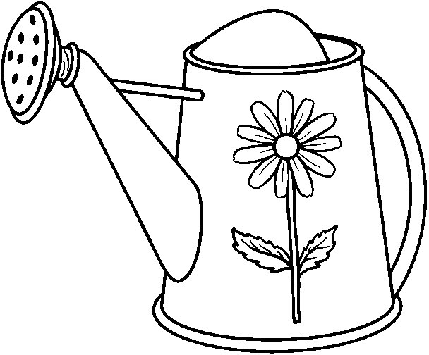 watering flowers coloring pages - photo#36