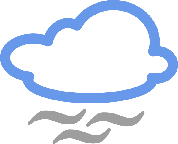 Cloudy Weather Symbols clip art - vector clip art online, royalty ...