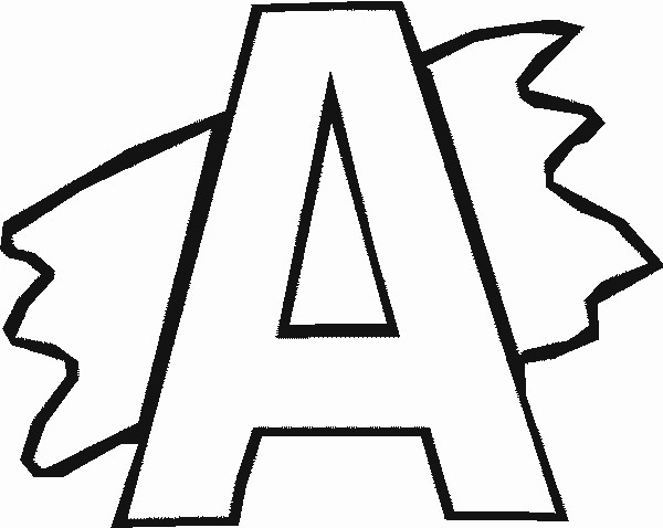 alphabet with splash coloring pages free printable download - Printable Alphabet Coloring Pages