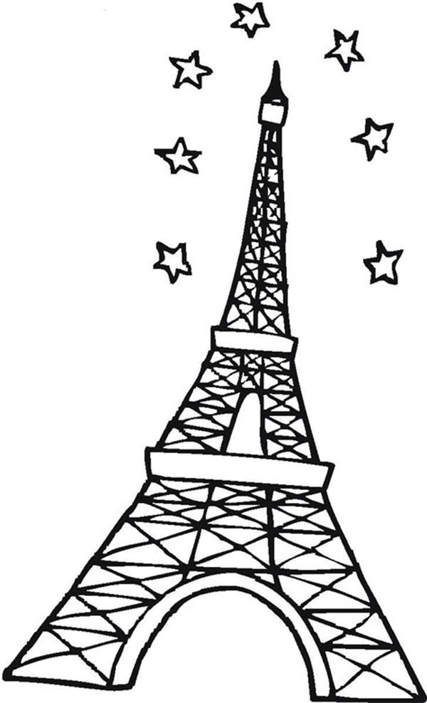 - Eiffel Tower Coloring Page - ClipArt Best