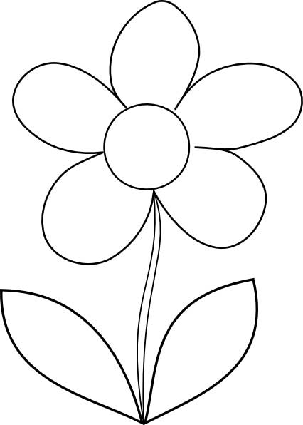 Outlines Of Flowers ClipArt Best