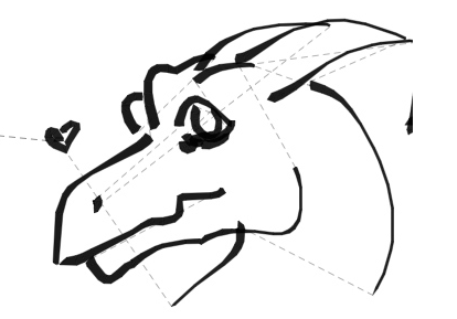 Easy Dragon Head - ClipArt Best