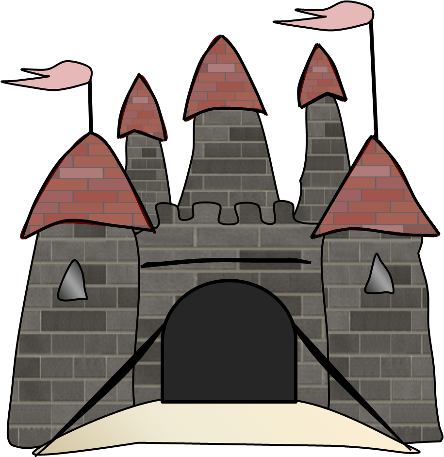 Illustration Sand Castle With Flags The Turrets Images