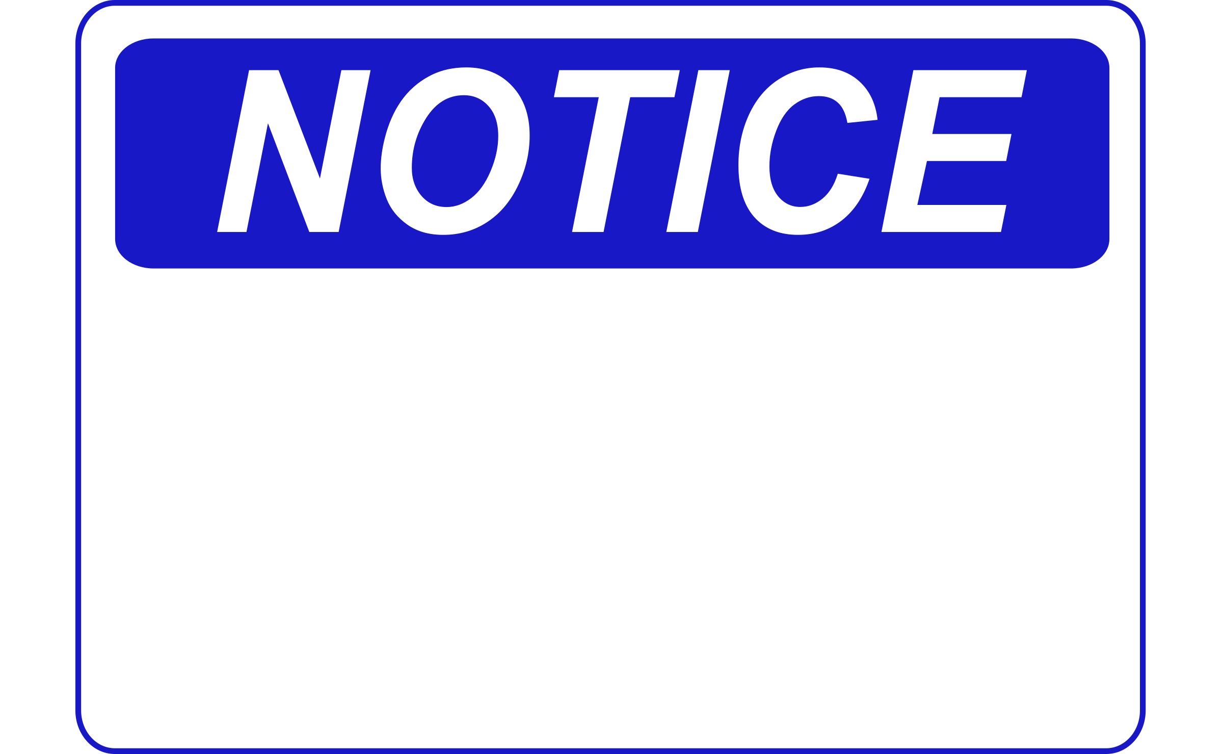 notice template clipart best clipart notice blank
