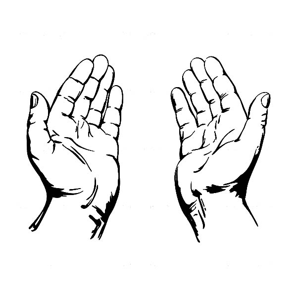 Open Hands Clipart Black And White - ClipArt Best