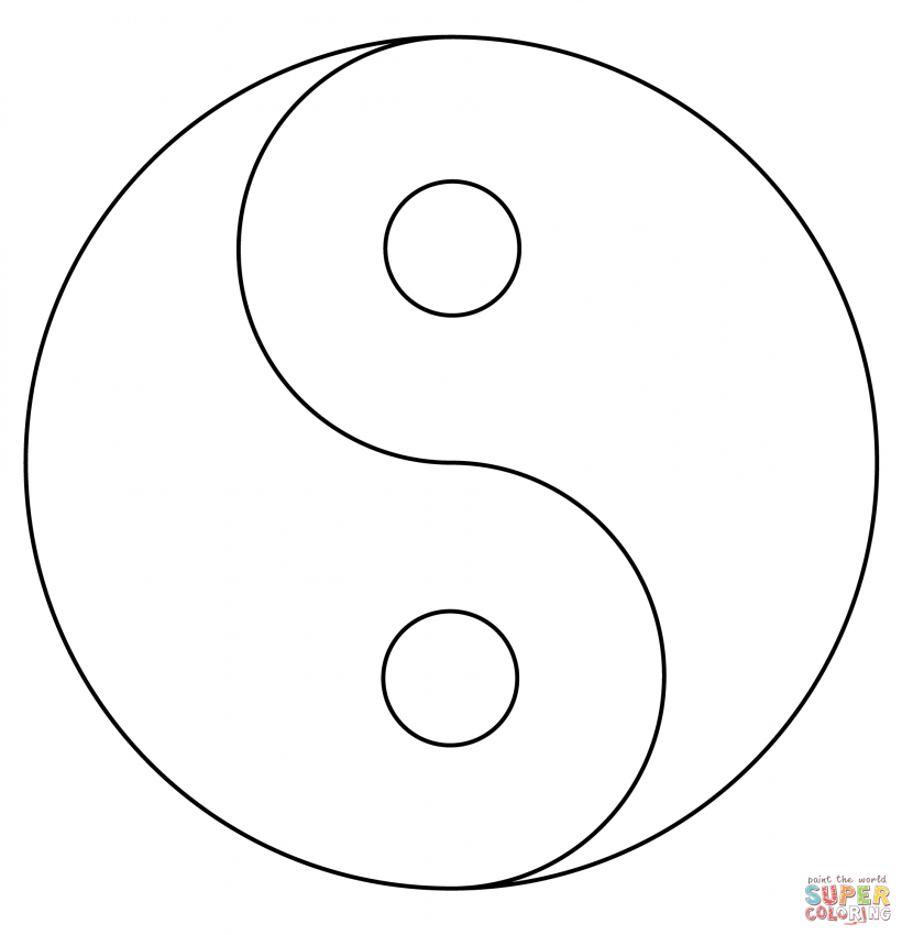 Detailed coloring pages yin yang coloring pages for Ying yang coloring pages
