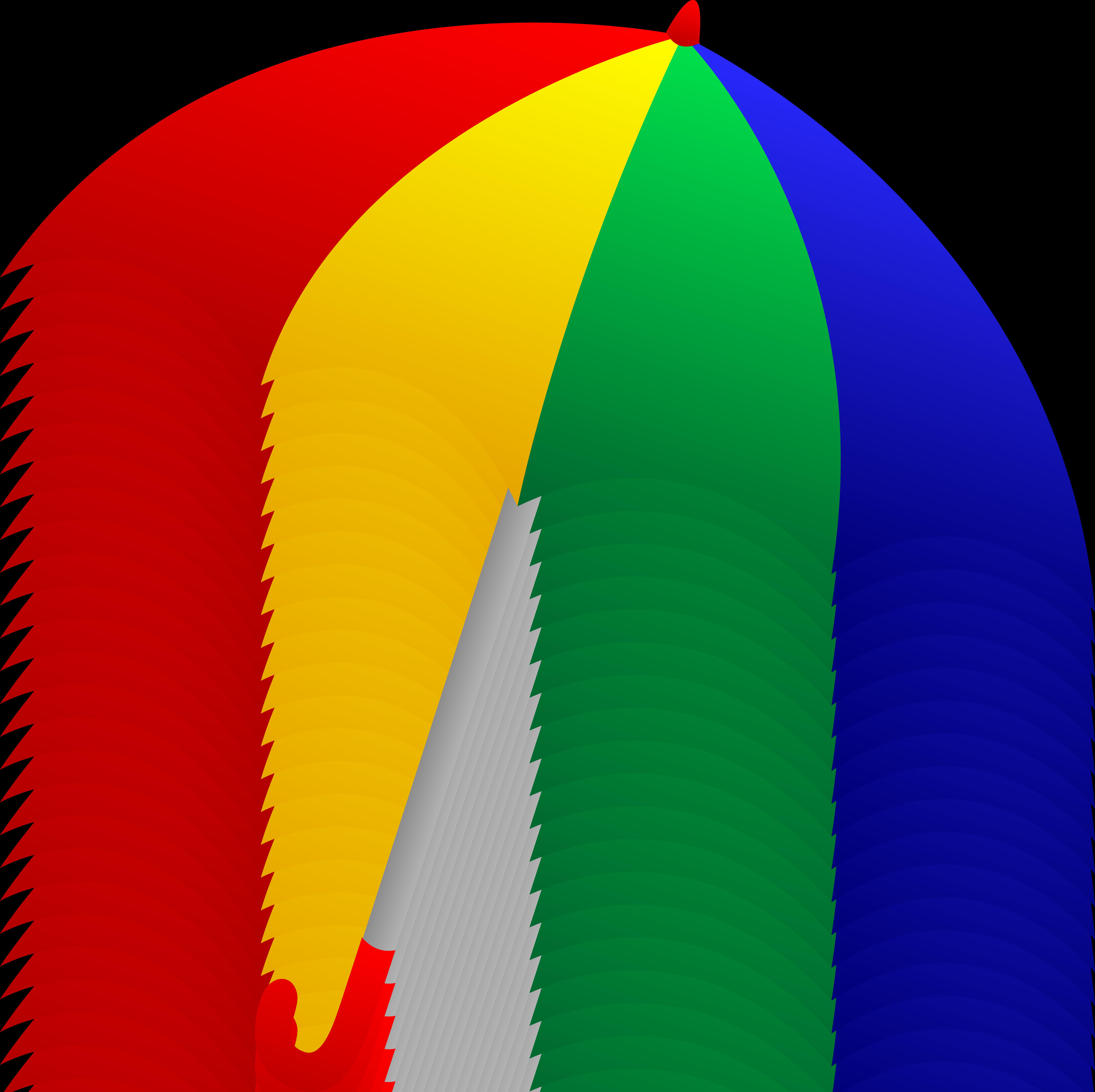 Beach umbrella and chair png - Cartoon Umbrellas Art Png 6607x6590 Cartoon Beach Umbrellas Clip Art Png