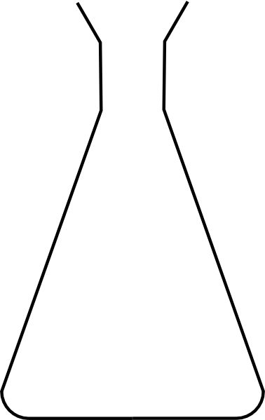 Empty beaker clip art