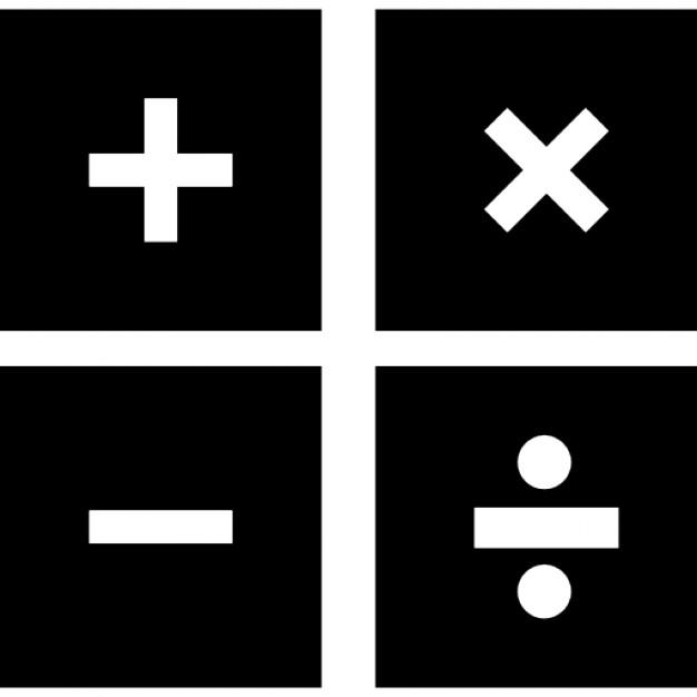 algebra math symbols printable chart math black and