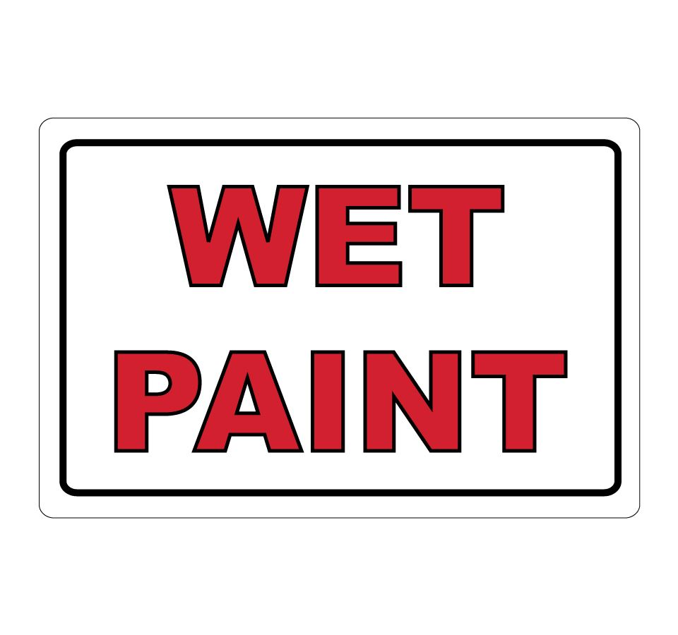 Wet Paint Signs Clip Art