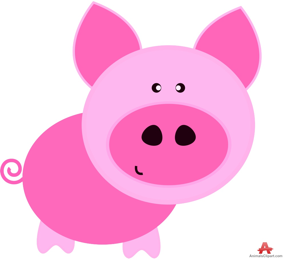 free clip art pink pig - photo #33