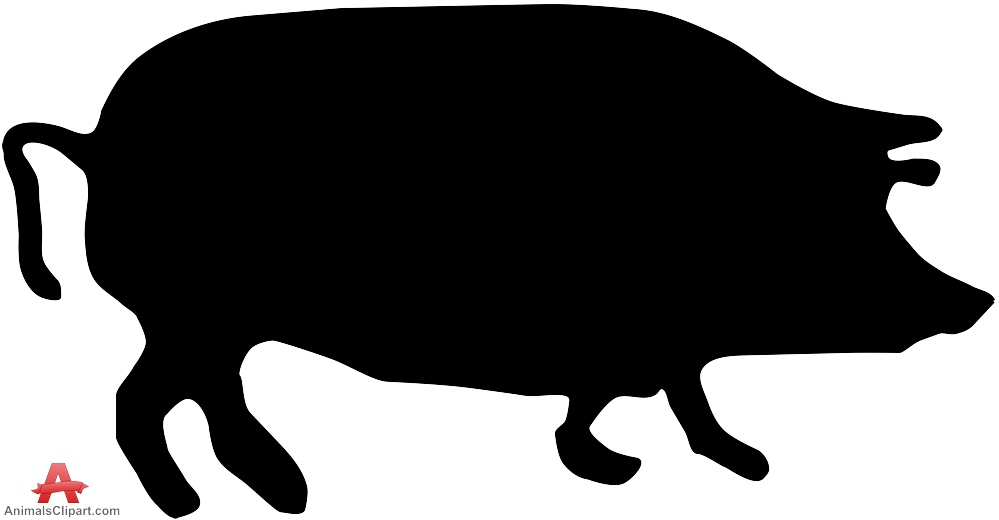 silhouette pig clipart best