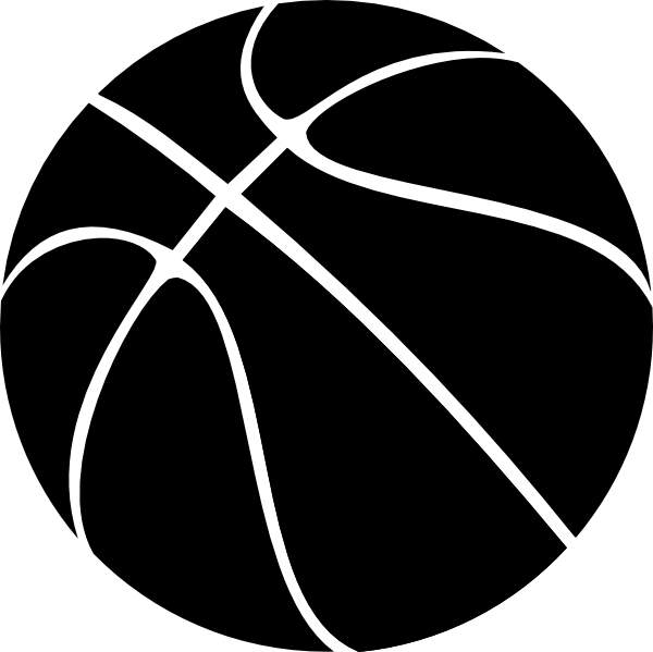 Basketball clipart black and white