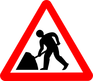 Road work signs clipart